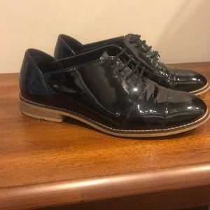 Aldo Black Patent Leather Oxfords Size 37, Black